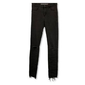 Zara High Rise Ripped Jeans